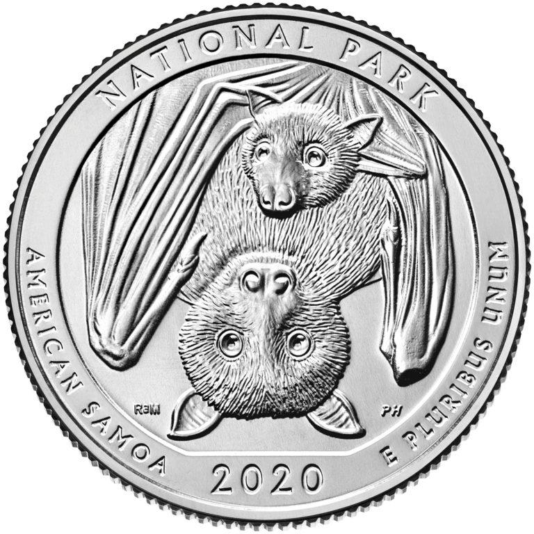 記念硬貨を集めてみよう!!アメリカの次の記念硬貨に「サモアフルーツコウモリ」が起用されることが決定!!